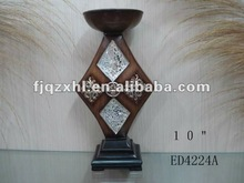 2014 products 10 inch new design resin candle holder