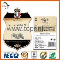 Nice print matt lamination paper wine label stickers manufacturers, suppliers, exporters