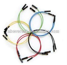 Popular f-f solderless breadboard jumper fios e cabos com cores