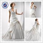 Newest A-line white lace wedding dress 2014