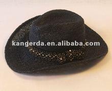 handmade men straw hat black