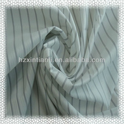 Long Sleeve Striped Shirting Lining Polyester Fabrics