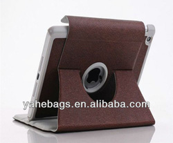leather case for iPad mini 360 degree rotating cover folding tablet case