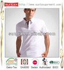 2013 New Fashion 100% Cotton White Blank Cusotm Man POLO T-shirt With OEKO-Tex100 and BSCI Manufacturer