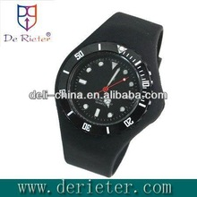 2013 latest style cheap branded watches for men Glue shell with silica gel Quartz silicone watch