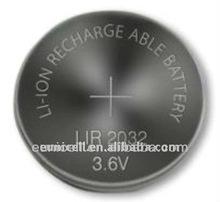 LIR batteries lir2032 3.6V button cell battery lir 2032 lir2032