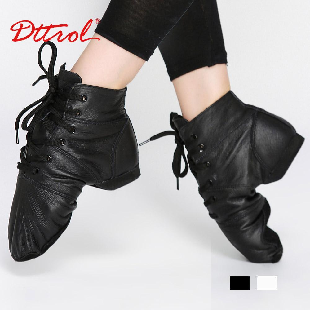 D005777 Black Soft leather dance jazz boots