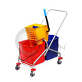 Mopping Trolley with Double Bucket & Wringer