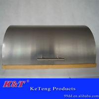 modern clear stainless steel storage bread bin