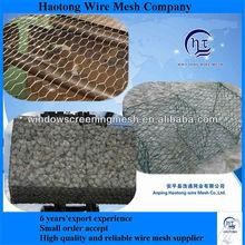 pvc coated or galvanized gabion box,rock filled gabion basket
