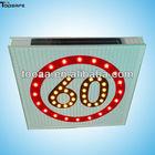 Solar LED 60 Speed Limit Traffic Sign