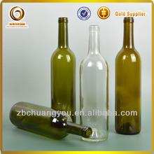 fancy top grade 750ml red glass wine bottles / cheap glass bottle for sale