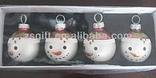 fashionable christmas handicrafts hollow glass ball decorations