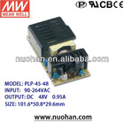 Meanwell 45W Single Output LED Power Supply high power led driver 45w/led power driver 48v