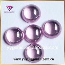 cz pink gemstone cabochon/bulk gemstones