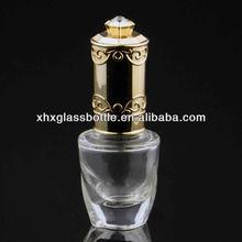 Limpar rodada vazio 12 ml prego garrafa de vidro para esmalte frascos de cosméticos atacadista