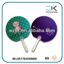 Cartoon !! advertising PP plastic promotion gift mini hand fan
