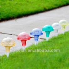 Colorful Plastic Mushroom Solar Light,Garden Decorative Light