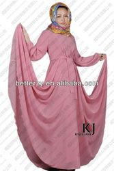 KJ-WAB8031 2014 new designs composite silk baju kurung of kyle and jane