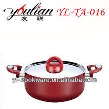 health living Aluminium Non-stick ceramic coating camping Shallow Casserloe Saucepot cookware