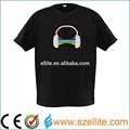 2014 venda quente em torno do pescoço de som ativadas el t-shirt