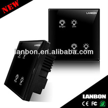 2013 Best-seller: wireless wall switch for smart home/Wireless Switch with Glasses Touch Panel For Home Automation System