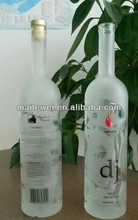 750ml frosted vodka glass bottle