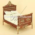 Bespaq 1/12 escala mini madeira sala cama carvied artesanato em miniatura casa de bonecas mobiliário cama