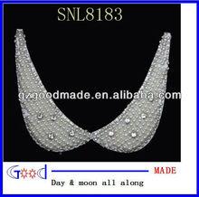 apliques 2013 escote bordado collar de perlas deimitación de cuentas