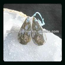 Larvikite Teardrop New Style Earrings