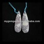 Howlite Stone Teardrop Earring Beads
