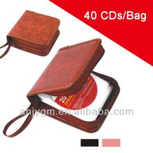 Popular Black/Brown Color Plastic 40 CD Bag/Case