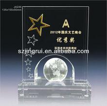 ja246 nuevo diseño de vidrio de cristal placa de premios y trofeos