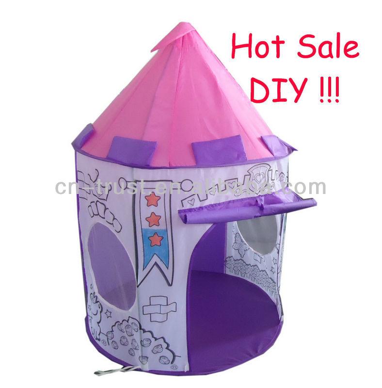 2013 NEW DESIGN DIY princess kids playing tent