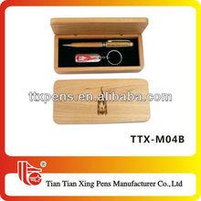 TTX-M04B First-class craftship pen dest set wood