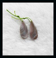 33x14x4mm 6.29g Persian Gulf Agate Teardrop Earring Beads