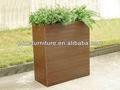2013 nuevo diseño!! De flores de madera cajas/maceta de plástico