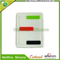 Non-slip silicone rubber tablet pc case