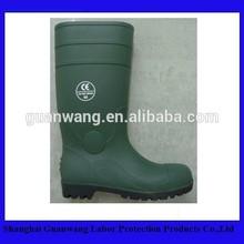 Dark Green PVC Boot Waterproof Rain Boot Steel Toe PVC Boot For WorKman