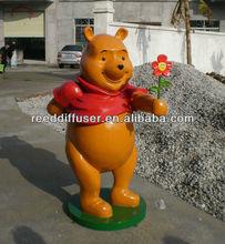 life-size decorative fiberglass animal statue/animal sculpture/cartoon animal