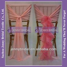 C003P fancy organza sash wedding chair cover wholesale