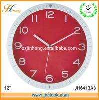 colorful plastic quartz decorative wall clock for sale