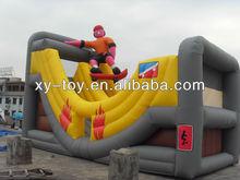 giant spiderman inflatable slide, inflatable spiderman slide