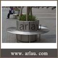 Rodada círculo banco de metal em aço inoxidável árvore bench ( Arlau FS71 )