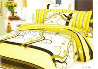 100% cotton bedsheet set/pure cotton golden sheet set/good quality/best sell/new designs