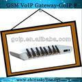 Goip- 8 puerto voip gsm gateway sms deinternetinalámbrico fijo terminal de puerta de enlace voip