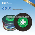 12cm cd disc for sale with 80min time 700MB capacity and pack in 50pcs/100pcs cake box