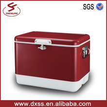 Durable retro metal stainless steel multifunction ice box cooler box 54L