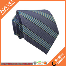high quality purple stripe silk necktie
