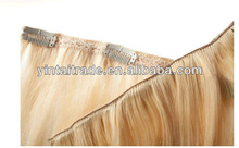 22'' Triple (Layer) Crown Hair Piece 70g, Onepiece hair extension with clips